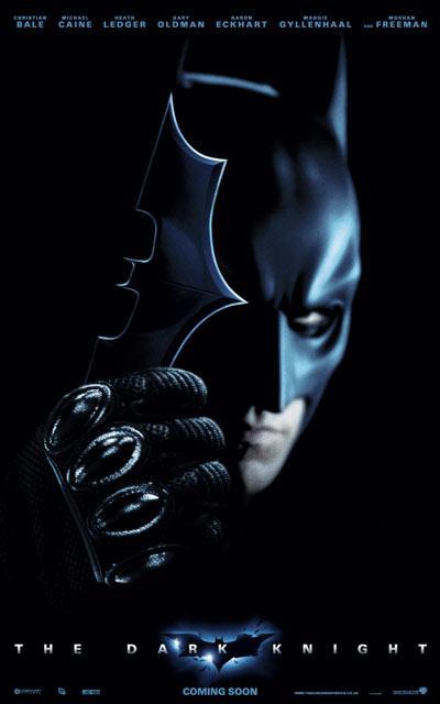 《蝙蝠侠:黑暗骑士》5款国际版海报曝光