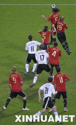 欧洲杯决赛:西班牙1:0击败德国夺冠(组图)