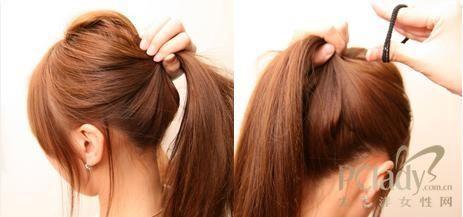 套头发带的系法 图解