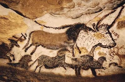 类和远古动物的足迹