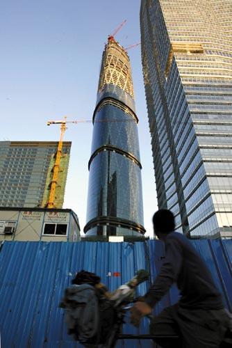 """已正式命名为""""广州国际金融中心""""的西塔地下5层"""