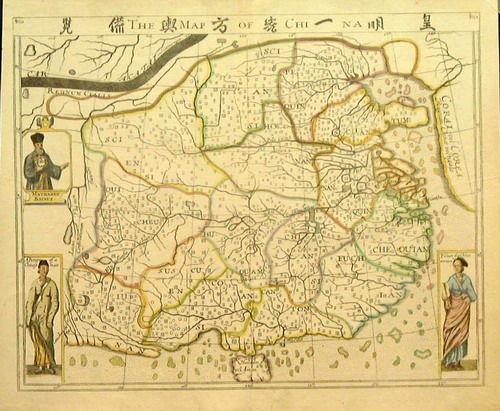 西方人绘制的早期中国地图(组图) - 南海子 - 古玉博物馆