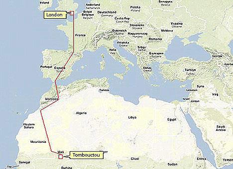 沿途将经过法国,西班牙,摩洛哥和撒哈拉沙漠.