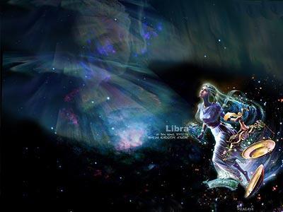 天平座的星空图案