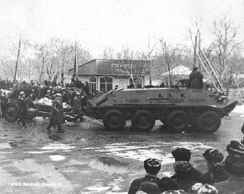 1969年 苏军恶狗逞凶珍宝岛挑衅中国军人