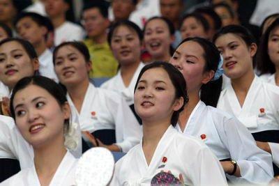 朝鲜最神秘的美女啦啦队