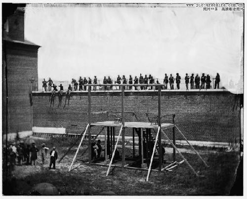 刺杀美国总统林肯凶手被执行绞刑[组图]