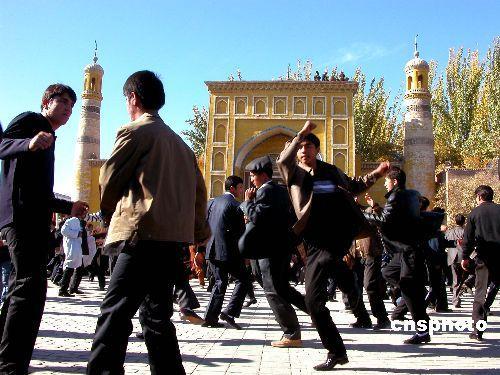 新疆民族风情之开斋节