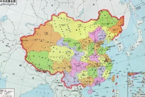 中国边境地图