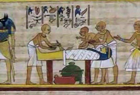 古埃及木乃伊制作图