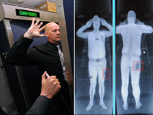 国机场使用透视安检 旅客全身一览无余图片