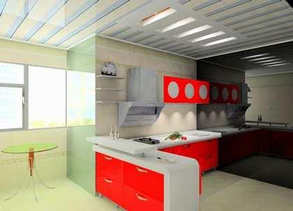 开放式厨房装修案例
