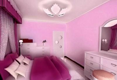 紫粉色卧室装修风格