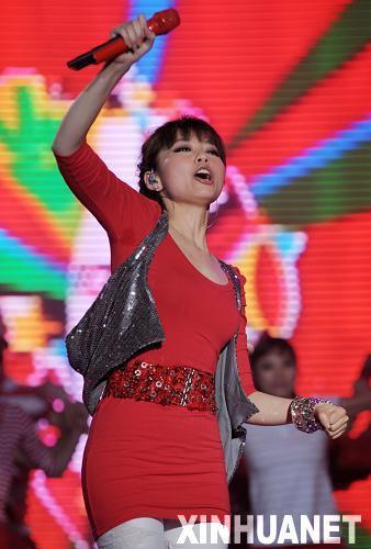 组图:世界杯国语版主题曲发布 张靓颖热歌劲舞