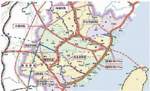 京台铁路示意图(组图)