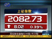 两市强势回升 沪指涨0.39%报2082点