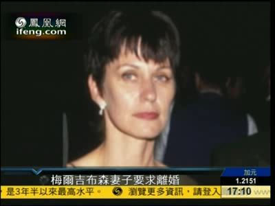 梅尔吉布森妻子要求离婚 索钱4.5亿美元