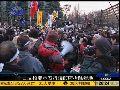 日本反核民众抗议政府拆除示威营地