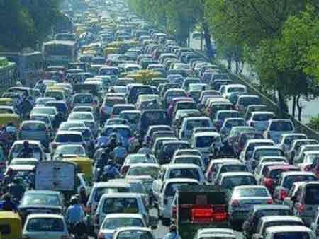 青岛高速堵车手机图片