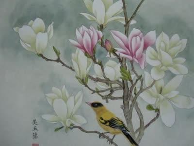 工笔画百合花的画法,吴玉阳工笔花鸟画技法视频-陶瓷简笔画,儿童