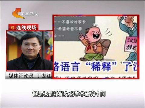 """丁龙江:反对研究""""呵呵""""功能有损文化建设"""
