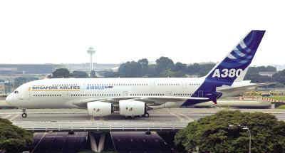"""a380将在白云机场""""过夜"""" 本月14日,一架a380型飞机按计划从法国"""
