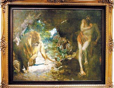 罗马立体风景油画