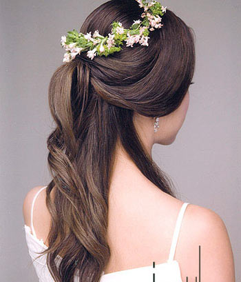 自学:漂亮韩式新娘发型