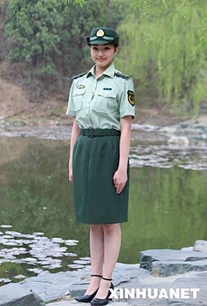 这是武警07式女警官短袖夏常服-武警部队8月1日全面换装 深橄榄绿为图片
