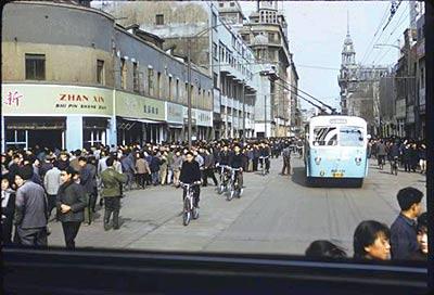 70年代初的上海南京路