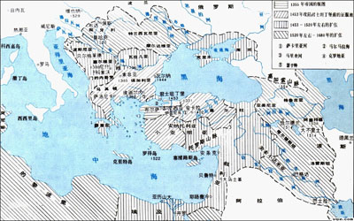 古罗马和中国地图