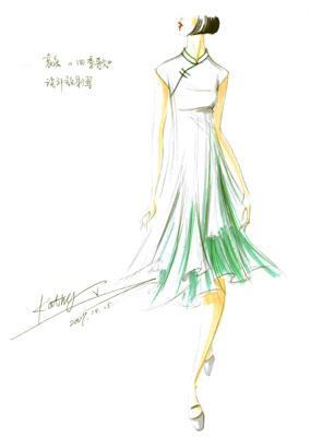 袁泉旗袍设计图图片