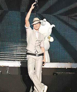 刘德华上海演唱会两度遇险