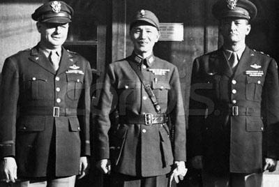 陈纳德与蒋介石夫妇