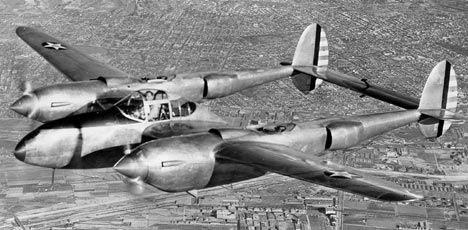 美国p-38战斗机在英国北威尔士被击落