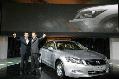 万众期待的广州本田第八代雅阁(Accord)在第五届广州国际车展上盛高清图片