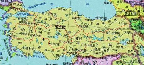 土耳其地图 土耳其地图高清中文版 土耳其地图中文版全图
