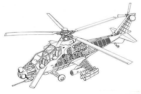 直-10型攻击直升机结构图