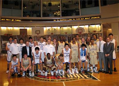 中国美篮少年携手应战美国NBA名人堂高中职