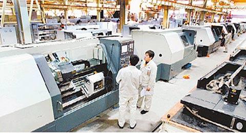 沈阳飞机公司的数控机床生产线