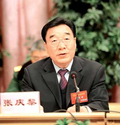 张庆黎表示将夺取反分裂斗争胜利(图)