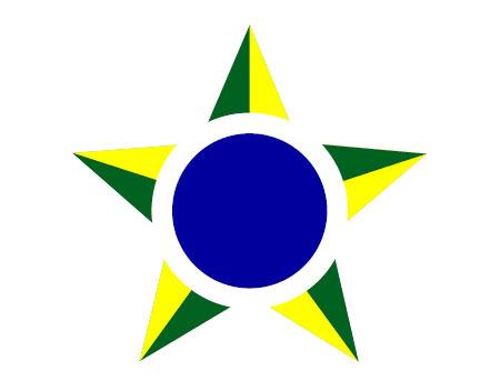 巴西建筑的矢量图