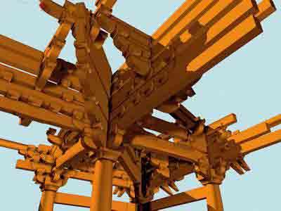这是中国古代木结构建筑