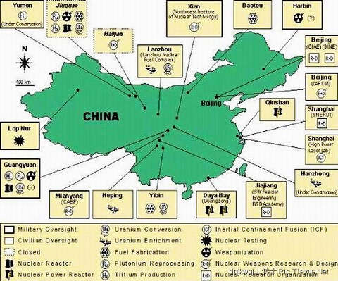 Image result for ä¸-国大陆核æ-|器分布图