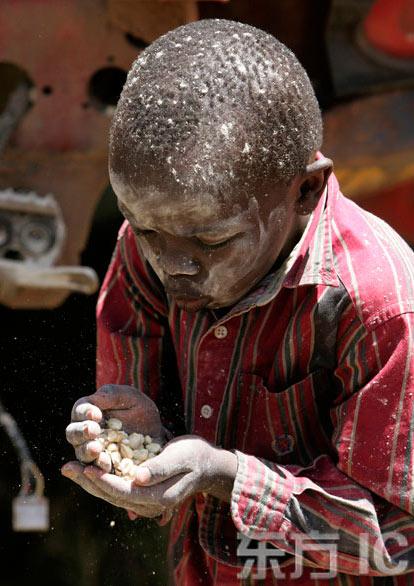海地食品危机加剧 众多儿童恐因饥饿死亡[组图]