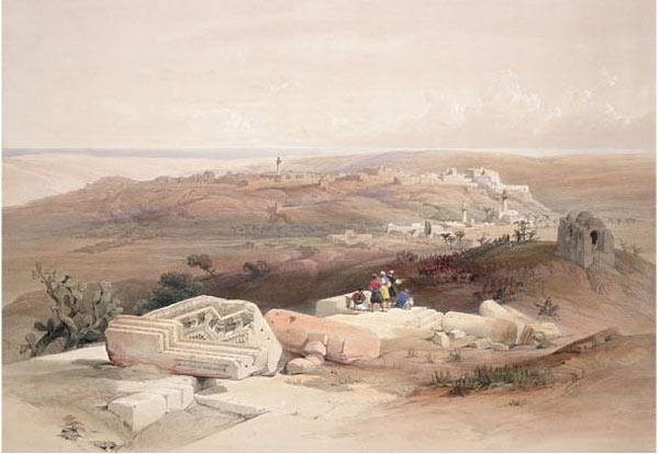 圣地加沙。公园7世纪,在先知穆罕默德的指引下,阿拉伯世界进入全盛时期。之后的几个世纪,加沙一直处于连通埃及和巴勒斯坦地区的枢纽地位,这里吸引了大量的商人,军人和朝觐者。在橄榄油、黄金、丝绸等物质财富交易的带动下,加沙的社会经济和文化迅速发展。14世纪时,叙利亚学者al-Dimashqi看到加沙的满城花木后感叹,这座雄伟的大城就如同一块花团锦簇的织锦覆盖在大地之上。但是在1516年,奥斯曼帝国征服了加沙,开始了长达400年的统治。从此加沙开始了被不同异族统治者侵凌的苦难历史。这幅由英国人绘制于1839年的作品《圣地》描绘了以加沙海岸地带为背景的圣经故事。