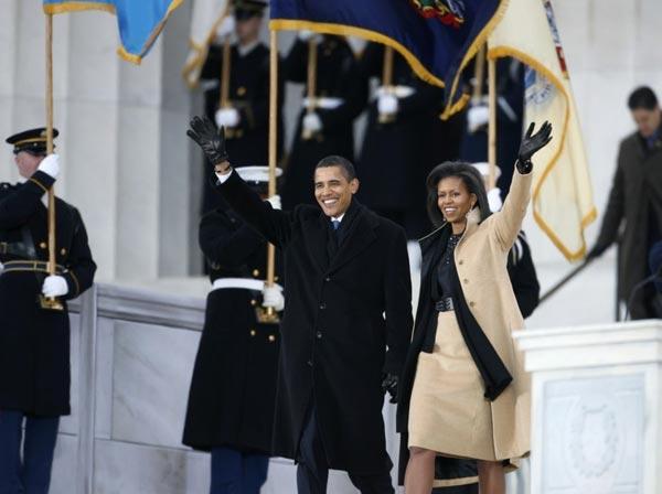 奥巴马夫妇亮相音乐会。