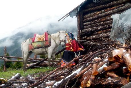 台湾《东森新闻》报道,穿戴藏族传统服饰,脸上脂粉未施更显得清新脱俗,回眸一笑百媚生,就是这种不食人间烟火的美,让大陆网民惊艳不已,原本是默默无名的藏族姑娘,一次偶然机会到当地旅游的摄影师发现她的高贵气质,拍下照片放上网,从此爆红,被封为川藏第一美女。