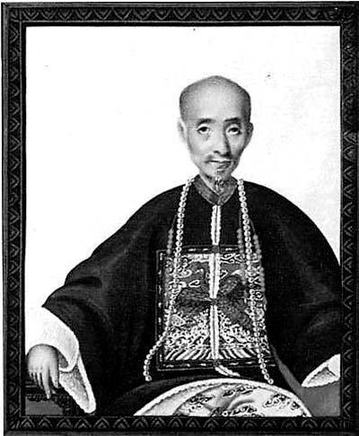 伍秉鉴 (Howqua) (a.k.a. Wu Bingjian) (1769-1843) 职业: 贸易人,资产: 千万银元,成名原因: 在他那个时期最富有的商人。伍秉鉴的父亲是允许与外国人交易丝和磁器的少数中国商人之一。伍秉鉴家只接受白银的付款;他们并不是所有的外国商品都想要。在1789年,伍秉鉴接管了他父亲的生意。他借出大量的数目给外国商人(每次百万银元)以交换部分的船只出货。他也是公认的慈善家,捐赠第一个鸦片战争后的一百一十万向赔款的银元。在那个时期,伍秉鉴名声远播,他的肖像仍然在一些和他有过生意来往的Salem, Mass., and Newport, R.I.-----美国人建造的官邸悬挂着。