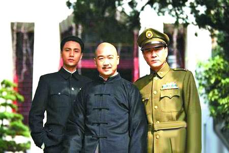 陈坤饰演蒋经国(左)、张国立饰演蒋介石、李强饰演陈诚